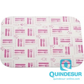 "TAPA Blanca Envase rectangular Chino Grande ""Cubiertos"" (650 cc)191x141 mm (1x600 Uds)"
