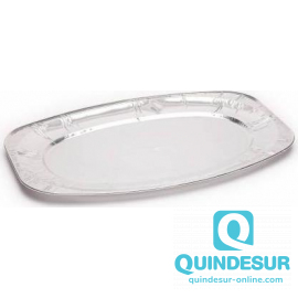 BANDEJA Oval ALUMINIO 548x359 mm H25 END (1X60)