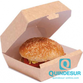 CAJA CARTONCILLO Hamburguesa Grande Kraft (120x120x40 mm) (1x400 Uds)