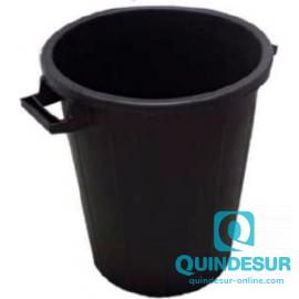 CUBO BASURA 100L. NEGRO CON TAPA