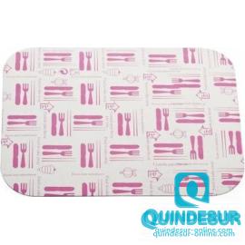 "TAPA Envase rectangular Pollo Abierto (2.200 cc) "" Cubiertos"" C/Agujeros 315x210 mm (5x100"