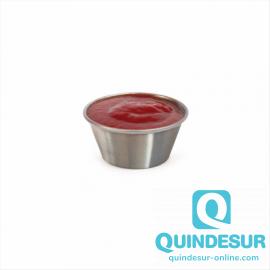 RAMEQUIN 60 ML PLATEADO INOX COD:186.51 (PACK 12 U DS)