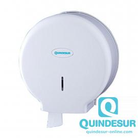 DISPENSADOR Papel Higiénico Industrial Plástico ABS Blanco Quindesur