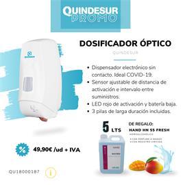 PROMO-DOSIFICADOR OPTICO Gel 1 LT QUINDESUR + 5 LT HAND HN 55 FRESH Viricida manos