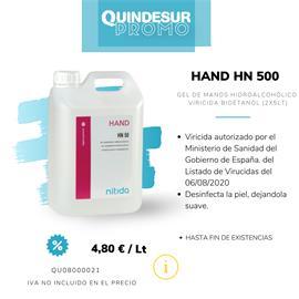 HAND HN 500 Gel de manos desinfectante hidroalcohó lico (2x5 Kg)