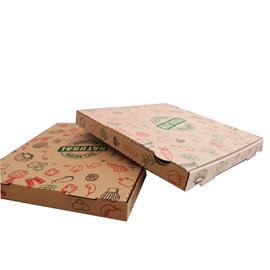 "CAJA PIZZA 33X33 cm ""100% NATURAL"" (PACK 100 UDS)"