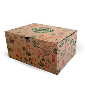 """CAJA COMBO """"100% NATURAL"""" 21X14X11 CM (PACK 100 UD S)"""
