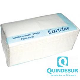 SERVILLETA 20X20 PUNTA PUNTA Blanca CAR (36 Pack/100 Uds)
