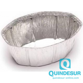 ENVASE Oval ALUMINIO (2.600 cc) 250x200 H100 mm END (4 Pack/125 Uds)
